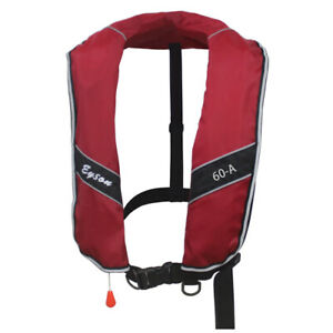 Top Safety Extra Large Size Manual Inflatable Life Jacket Life Vest Adults 275N