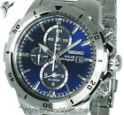 New SEIKO SOLAR BLUE DIAL CHRONOGRAPH With STAINLESS STEEL BRACELET SSC555P1