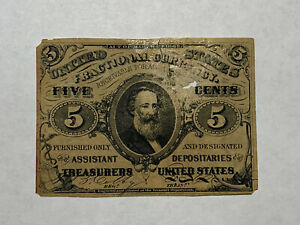 1863 Fractional Currency 5 Cent Note