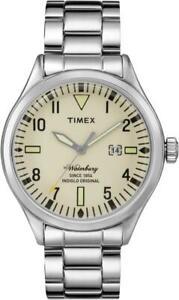 Orologio Uomo TIMEX The WATERBURY TW2P83900BR Bracciale Acciaio Beige Sabbia