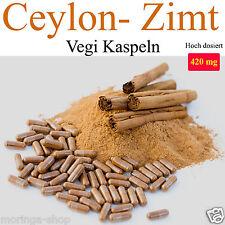 300 Ceylon-Zimt Vegikapseln, echter Ceylon Zimt,  á 510 mg