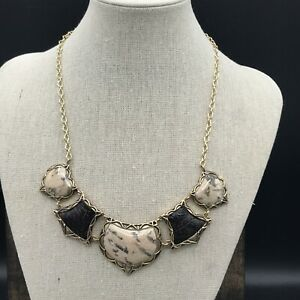 Barse Cruise Necklace-Leather & Feldspar Jasper- Bronze- NWT