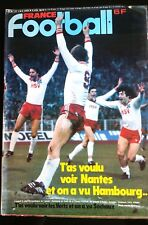 b)France Football du 29/4/1980; Hambourg/ Sochaux/ Goethals/ Tours/ Orléans