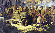 We Happy Few by James Dietz Airborne Ground Troops D-Day 1944 WWII Jeep