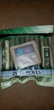 25 x King Palm Natural Leaf wraps (XL) Size (1 Pack 25 Rolls)
