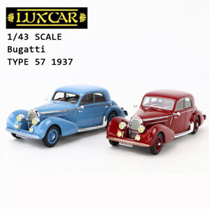 1/43 LUXCAR BUGATTI 57 GALILIER GRABER Classic Car Model Collection Blue / Red
