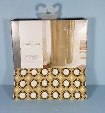 "Threshold Circle Shower Curtain - Yellow/Grey Marble 72"" x 72"" Target NEW"
