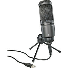 Audio-Technica AT2020USB PLUS Deluxe USB Cardioid Condenser Microphone