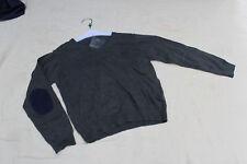 PULL TRICOT * NUKUTAVAKE  * 10 ANS 140 CM NOIR GRAPHITE COL EN V  neuf étiquette