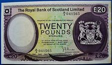 More details for the royal bank of scotland 1981  'burke' £20 note.                      ch13-137
