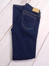 """H&M Super Skinny Low Waist Jeans Size 28/32 Inseam 31"""" Dark Wash Denim"""