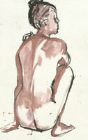 Ann Matthews - 20th Century Watercolour, Study of Seated Female Figures