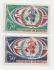 1968 Dahomey WHO Commemoratives Scott 250-251 MH