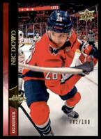 2020-21 UD Series 1 Exclusives #187 Nic Dowd /100 - Washington Capitals
