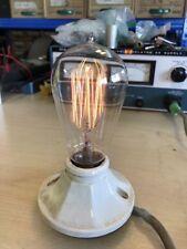 Antique Working EDISON MAZDA Hand Blown Squirrel Cage Filament Light Bulb #1