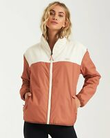 New NWT Women's Billabong A/DIV Atlas Reversible Zip Up Front Jacket Size Small