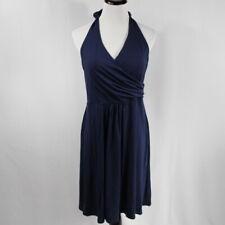 Boden Women's Dress Size 10P Blue Halter Top Backless V-Cut Neckline