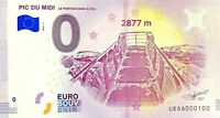 BILLET 0  EURO PIC DU MIDI LE PONTON DANS LE CIEL FRANCE  NUMERO 100