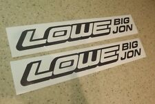 "Lowe Jon Boat Vintage Fishing Decal Black 12"" 2-PAK FREE SHIP + FREE Fish Decal!"