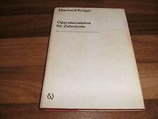 Prof. Dr. med. dent. Eberhard Krüger -- OPERATIONSLEHRE für ZAHNÄRZTE // 1970