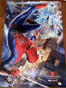 The Amazing Spider-Man 2 Movie Poster CAST SIGNED Premier Andrew Garfield Marvel