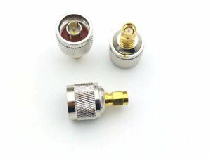 PureTek Tipo N Macho A RP-SMA Macho (Hembra Patillas) Adaptador Conector Unión