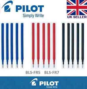 Pilot FriXion Erasable Pen REFILLS- ink colour /point size/set of 3 or 5 or 12