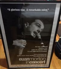 Signed and Framed Euan Morton Concert Poster From Signature Theatre Feb 20, 2006