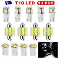 13PC Car 12V T10 LED Lights White Festoon Globe Bulb Interior Kit Wedge 31MM
