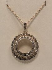 LeVian 14K Strawberry Gold Chocolate Circle Diamond Pendant - YRFW 32