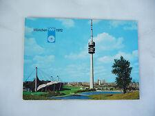Munchen 1972 Olympiastadt Olympic Gam 00004000 es Area Tv Tower Village postcard used rare