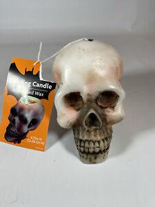 New Bleeding Wax Candle Skull Halloween Bleeds Red TikTok
