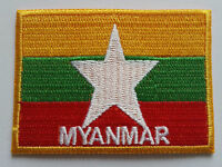 National Flag of Myanmar Patch Sew On or Iron On Embroidered Country Badge