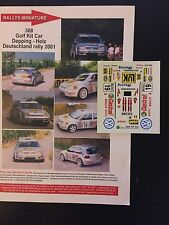 DECALS 1/43 VW VOLKSWAGEN GOLF KIT CAR DEPPING RALLYE DEUTSCHLAND 2001 RALLY WRC