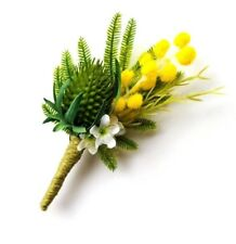 Buttonhole - Australian Native Flowers- Artificial Wedding Flowers for Groom