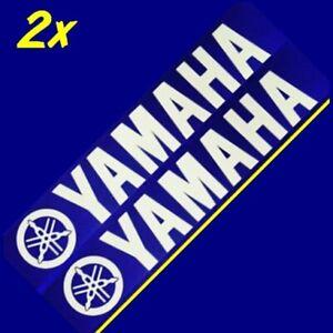 Yamaha WHITE 8.25in decals stickers r 6 1 zuma 3 moto gp racing keyboard fz 8 16
