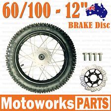 "60/100 - 12"" Inch Front Wheel + Disc + Bolt 90cc 125cc Dirt Pit PRO Trail Bike"