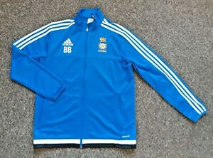 NYCSFA North Yorkshire Size M Blue Track Jacket & black Polo Shirt adidas