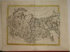 RUSSIA ASIATIC RUSSIAN EMPIRE 1785 ANTONIO ZATTA ANTIQUE COPPER ENGRAVED MAP