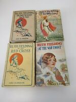 4 Vtg Lot 1918-19, 1st Ed. Ruth Fielding Series, Emerson #13-15, HC DJ