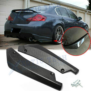 Carbon Fiber Rear Bumper Splitter Diffuser Canards For Infiniti G37 Q50 Q60 Q70