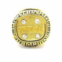 1980 USA Olympic Hockey 18k Gold Plated Championship Ring