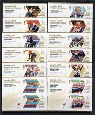 GB MNH 2012 sg3372a-3405a MEDAGLIA D'ORO VINCITORI Londra Paraolimpiadi Set di 34