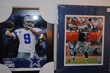 Set of 3 8x10 Glossy Photos of Dallas Cowboy Tony Romo in Action
