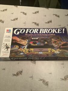 Go For Broke Board Game MB 1985 Vintage Classic Board Game