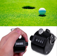 4 Digit Number Mechanical Manual Finger Handheld Tally Clicker Golf Hand Counter