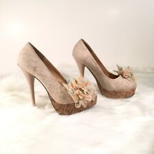 Diva Lounge Women's Size 7 Floral High Heels