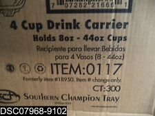 Slightly Damaged: Qty=300: 0117 Southern Champion Tray 4 Cup Drink Carrier