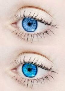 Blue Color Contact lens Kit Zero Power Free Lens Solution for Sexy eye party