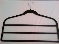 6 Hangers 3 Bars Velvet Non-Slip Spaceless Organizer Trouser Pant Storage Shirt